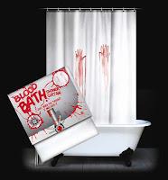 Cortina para baño sangrienta