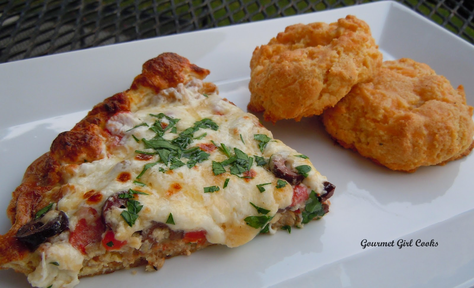 Girl Cooks: Sausage, Roasted Red Pepper and Black Olive Frittata ...