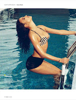 Irina Shayk inthe pool photo from GQ Germany July 2012 Issue