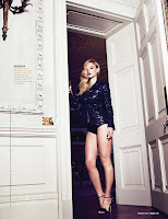 Bar Refaeli leggy standing by the door