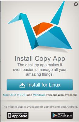 Capturas de Pantalla de la aplicación Copy