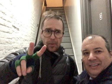 Danya Polykov and Sam Rockwell, NYC, 2018