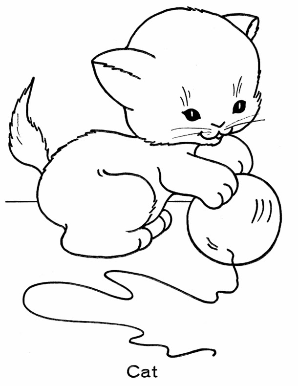 kids page cute kitten coloring pages printable coloring