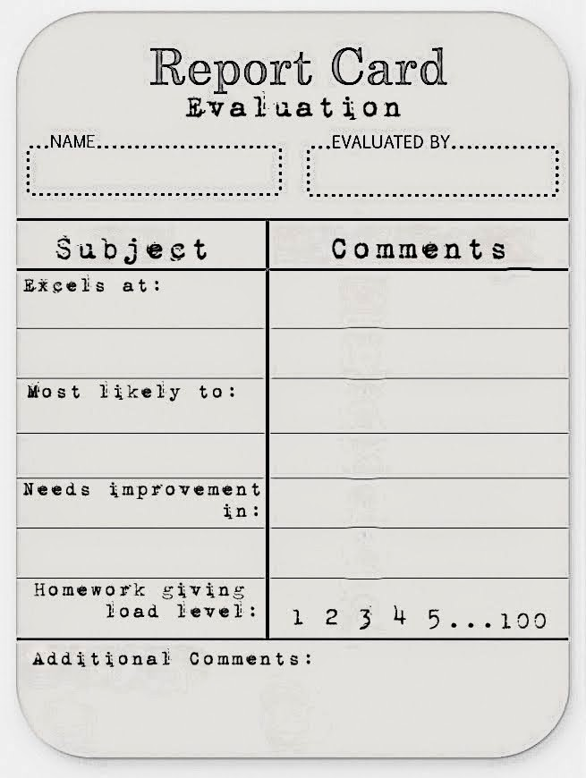 Persnickety image inside report cards printable
