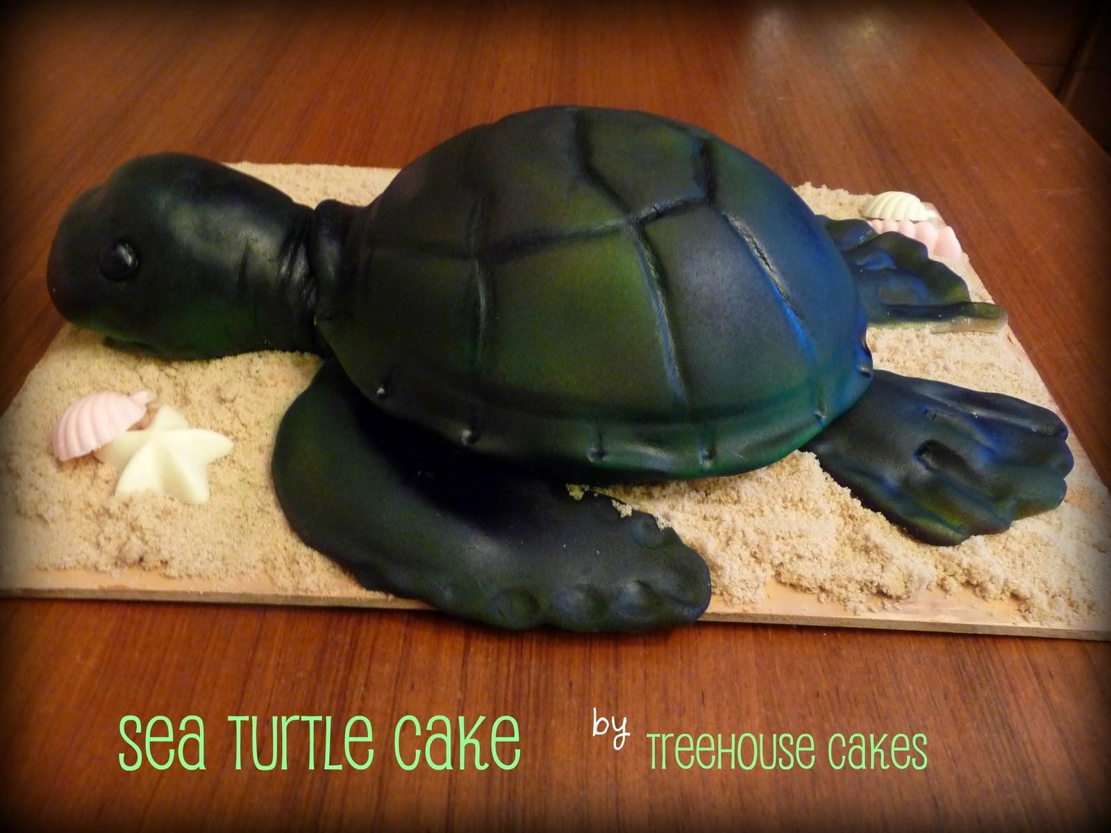 how to make a sea turtle cake