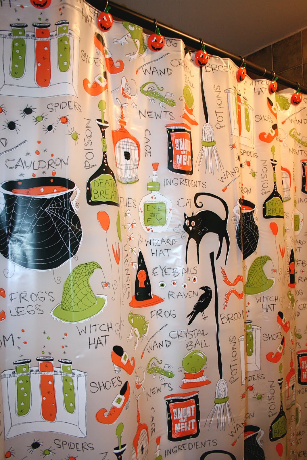 Halloween shower curtain target halloween shower curtain yes that is a halloween shower curtain as