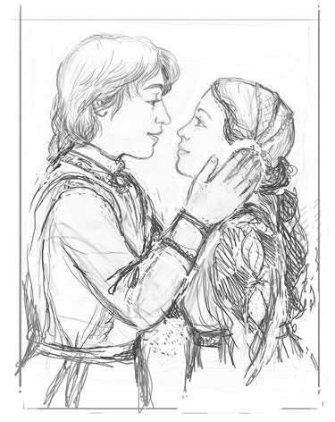 how to draw romeo and juliet balcony scene