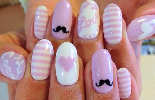 disenos unas dia del amor, Valentine's nails