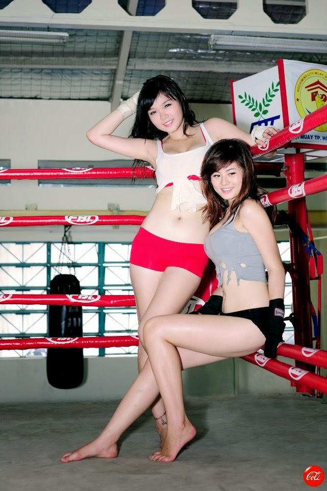 Khi phái đẹp đấu boxing 6
