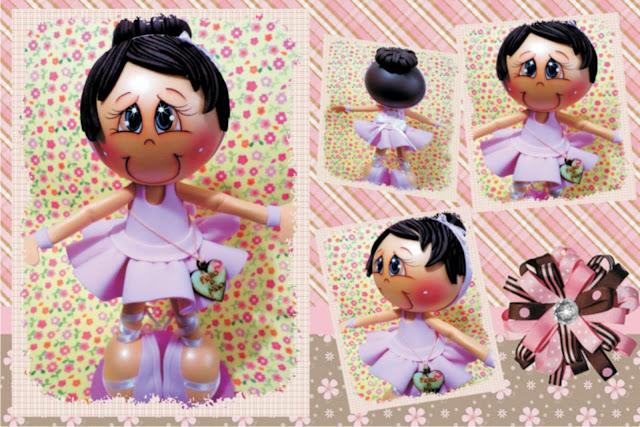 boneca em eva bailarina