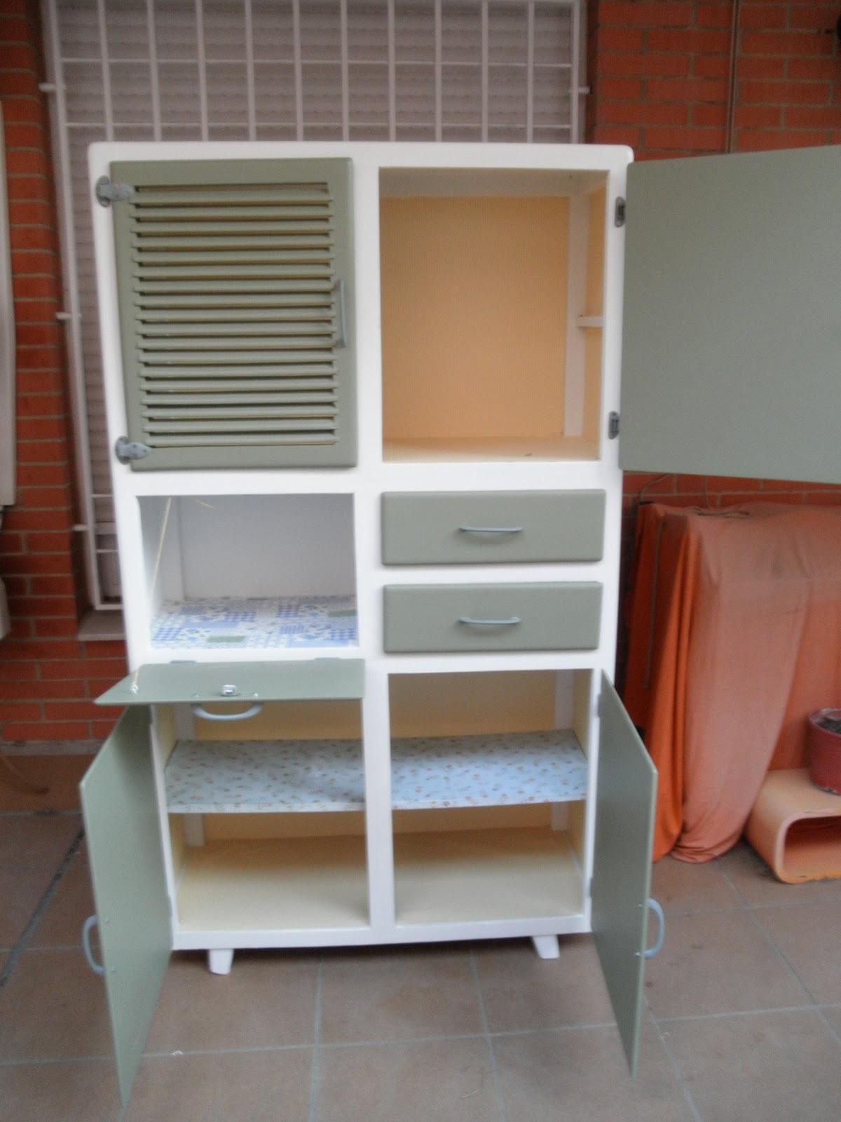 Crea vintage antes y despu s de un mueble de cocina - Pintar muebles de cocina antes y despues ...