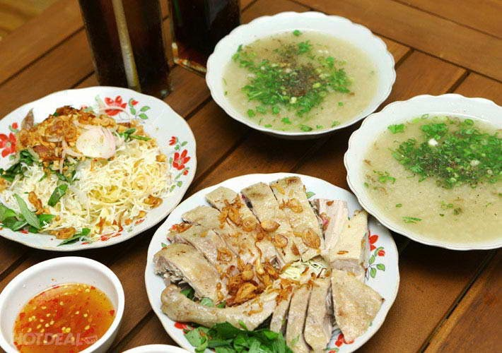 Duck Porridge and Salad - Cháo gỏi vịt