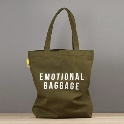 Travel essentials: emotional baggage tote
