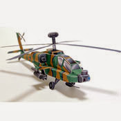 Aircraft - US-ARMY AH-64D Apache Longbow Papercraft