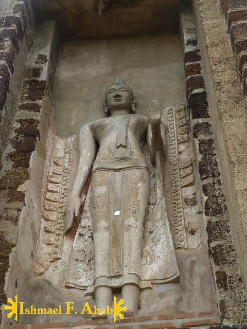 Buddha statue in Wat Ratchaburana, Ayutthaya Historical Park, Thailand