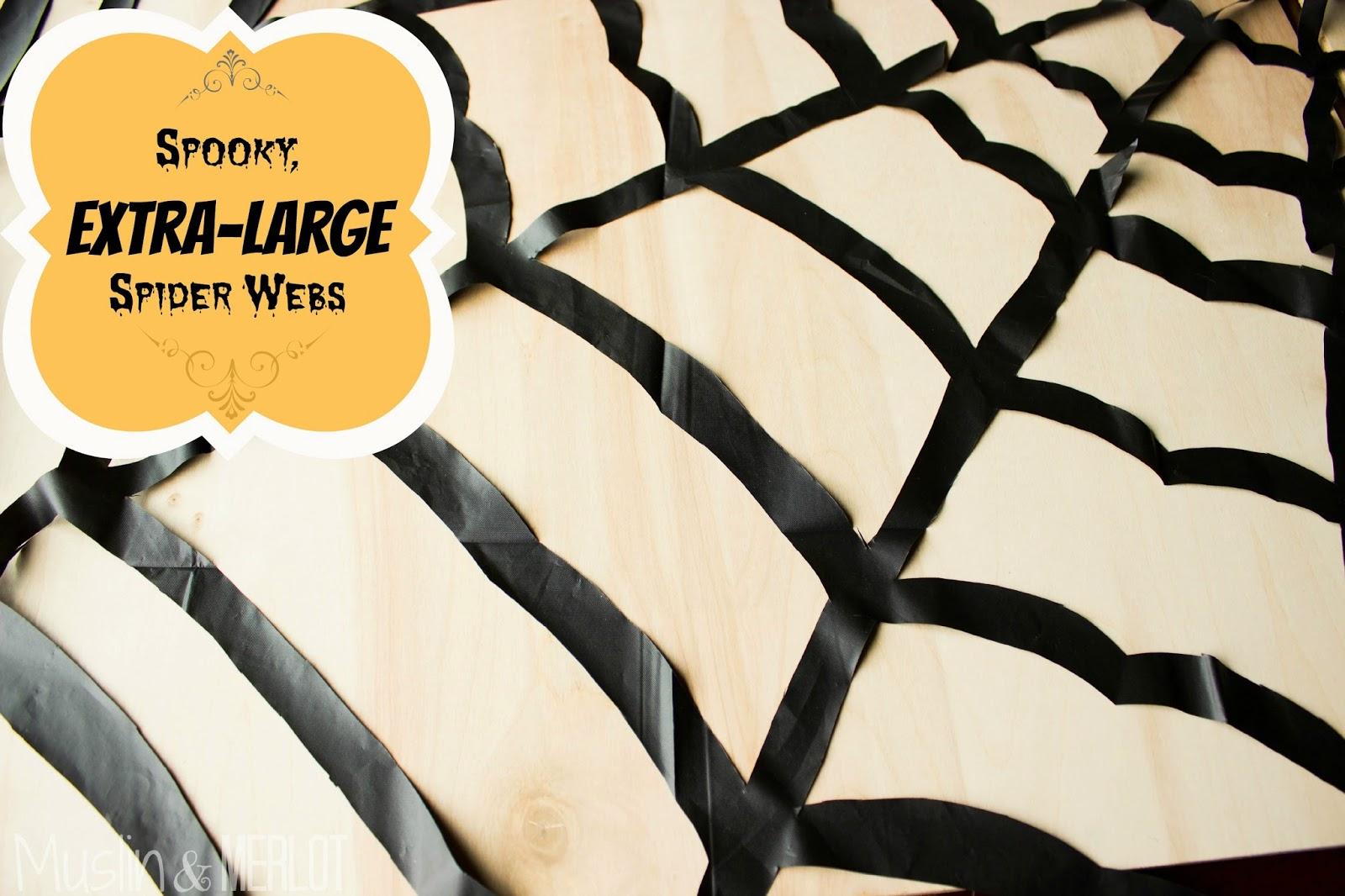 http://muslinandmerlot.blogspot.com/2014/08/huge-plastic-spiderweb.html