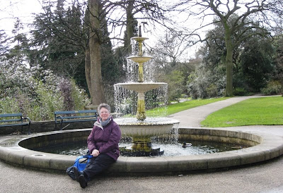 Me in front of a fountain