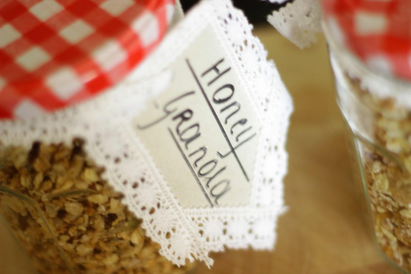 DIY granola jars