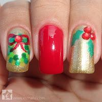 Unhas Decoradas - Guirlanda de Natal (Especial de Fim de Ano)