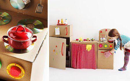 No todo es conocimiento juguetes de carton for Cocina de carton
