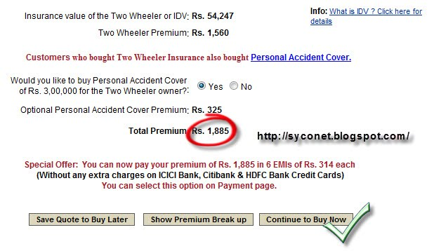 Two Wheeler Insurance Online | Bike Insurance Renewal