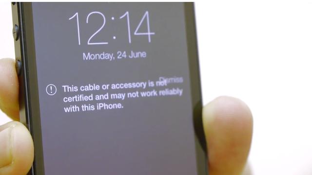 iOS 7 no acepta cables no certificados