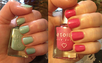 Etoile, Etoile nail polish, Etoile Fizzy Cucumber, Etoile Pink Panache, Etoile Greenwich St. Soiree Collection, Etoile nail polish swatches, swatch, swatches, nail polish swatches, nail, nails, nail polish, polish, lacquer, nail lacquer, varnish, nail varnish