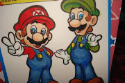 The picture of Mario & Luigi is actually supposed to be a coloring book page .