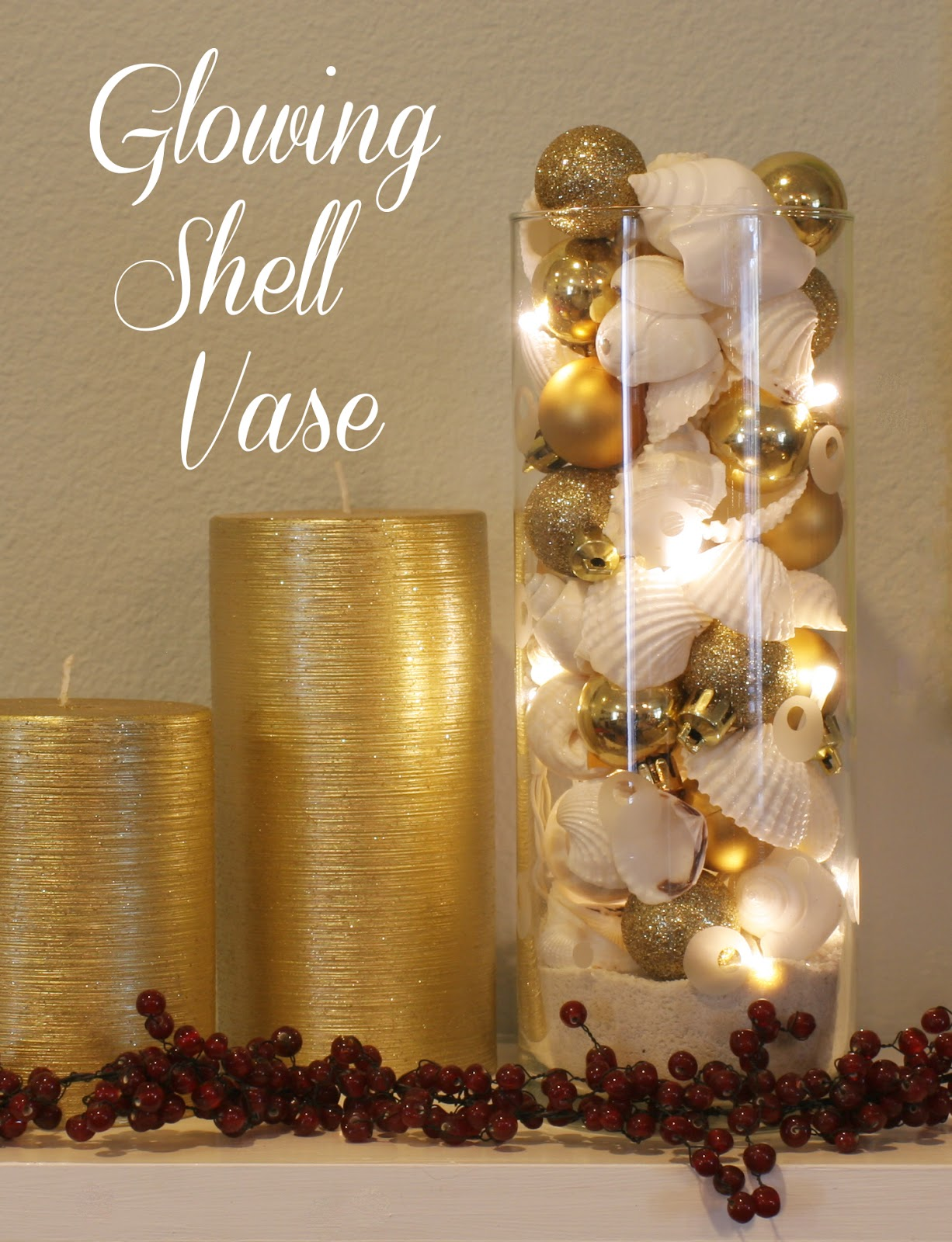 Glowing Shell Vase