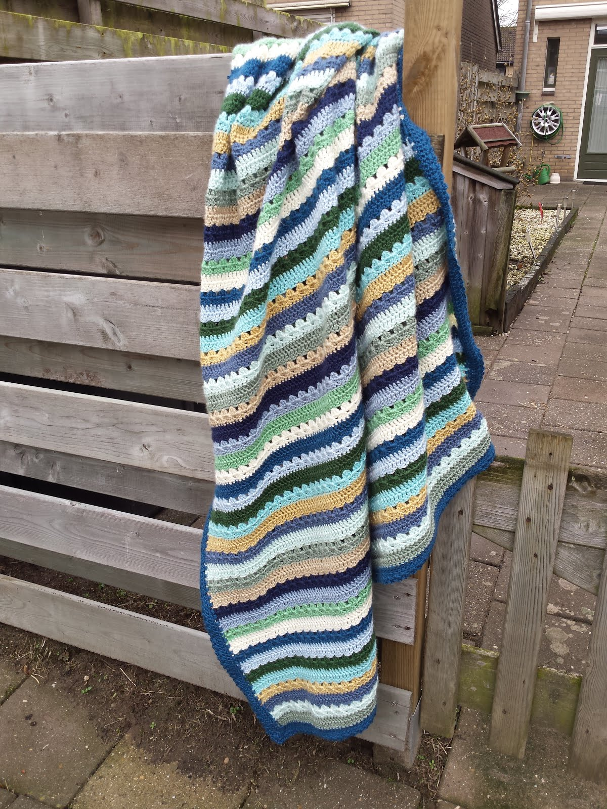 Kimberley's Cosy Stripe Blanket