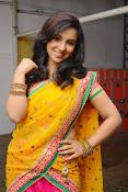 Leema glamorous photos in half saree-thumbnail-11