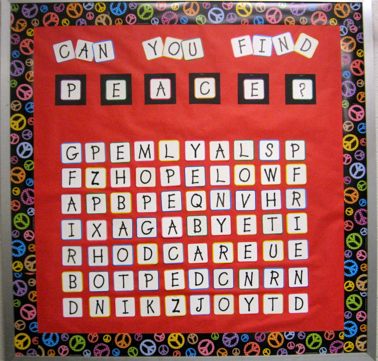 The corner on character room to breathe for Bulletin board template word