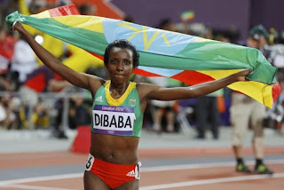 Tirunesh dibaba gold 10000m london olympic 2012