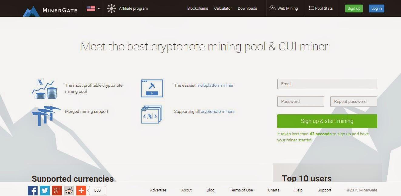 Mining bitcoin di MinerGate