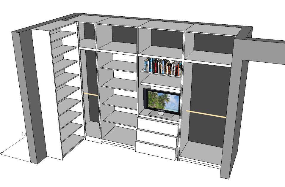 Closets y cocinas integrales residencial closet en escuadra for Programa para disenar closet y cocinas
