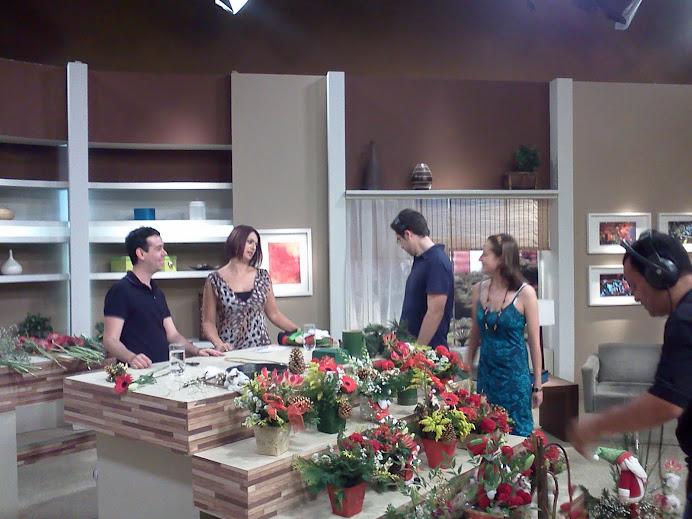 "TV Gazeta programa ""Mulheres."" Ikebana de Natal."