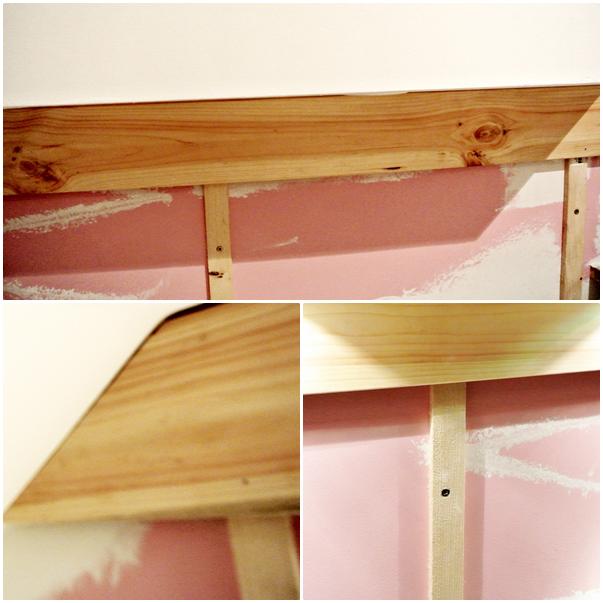 jak umocowac deski na ścianie,instrukcja mocowanie desek na ścienie DIY blog