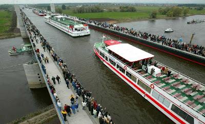 pont pour bateaux, Magdebourg bridge