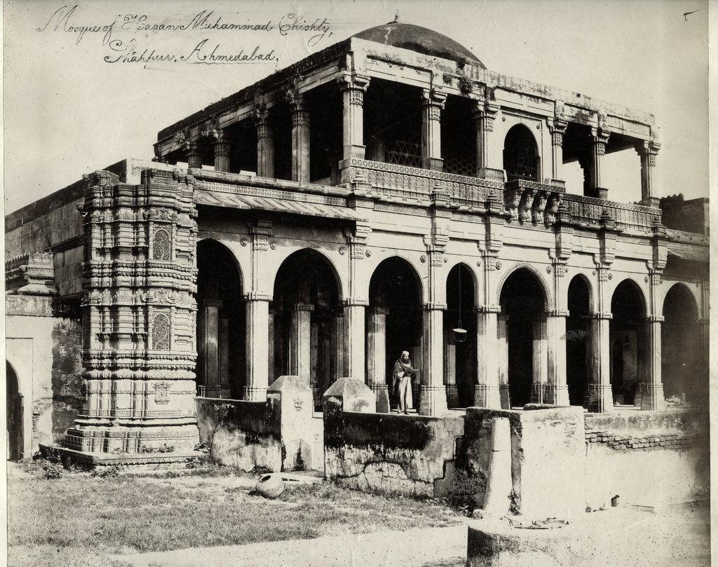 Shaikh Hasan Muhammad Chishti's Tomb (Shahpur Mosque), Shahapur, Ahmadabad, Gujarat - 1860's