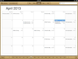 iPad Calendar App Screenshot