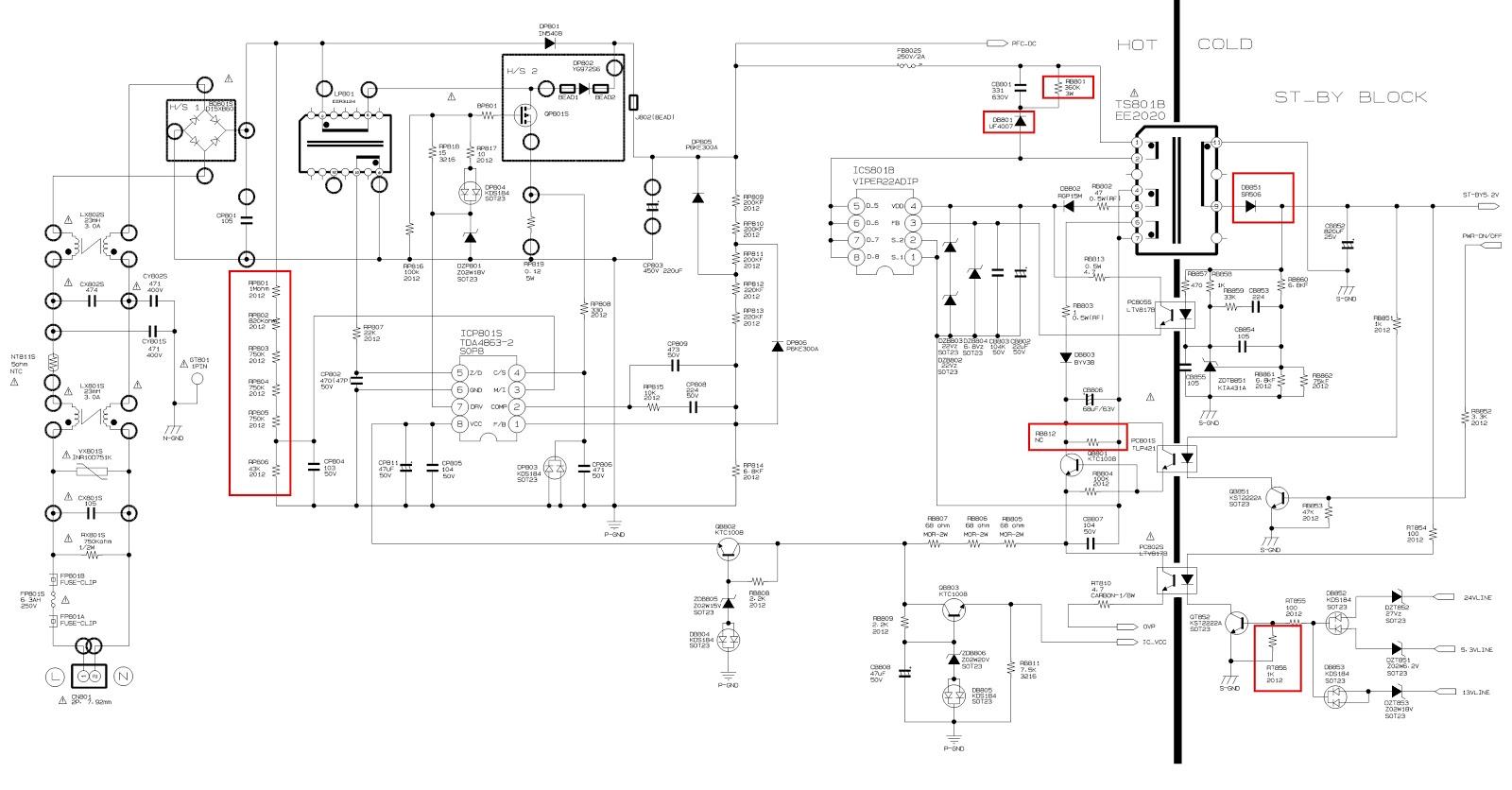 Схемы блоков питания самсунг bn44 960