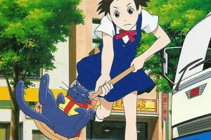 Haru saving a cat The Cat Returns 2002 animatedfilmreviews.filminspector.com
