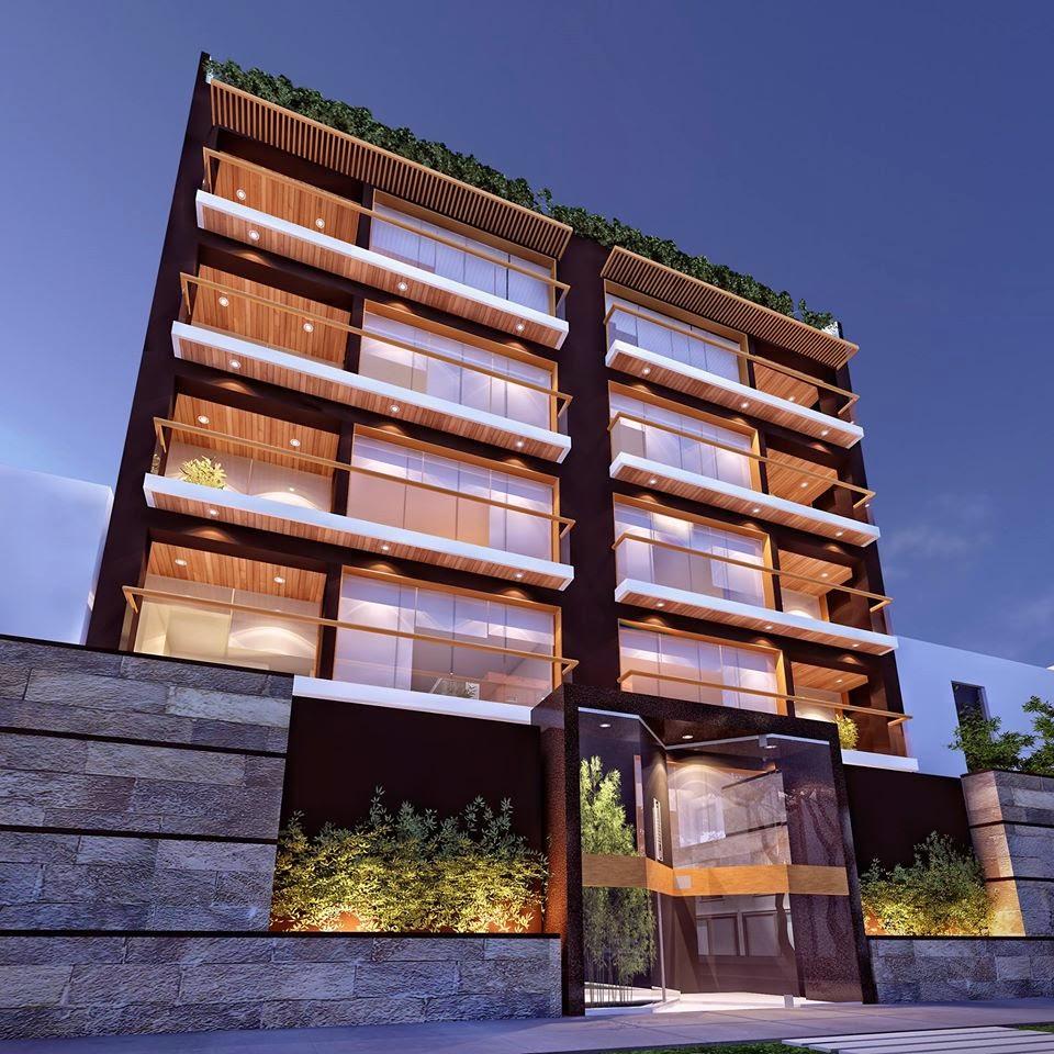 Fachadas de edificios de departamentos fachadas de casas for Fachadas de departamentos modernos