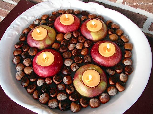 Floating apple votives