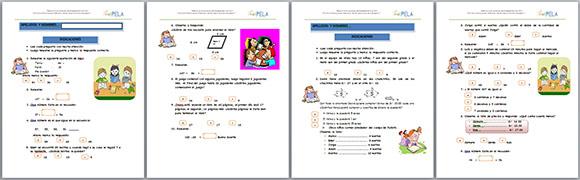 Evaluación de Matemática tipo ECE ~ RUTAS DEL APRENDIZAJE