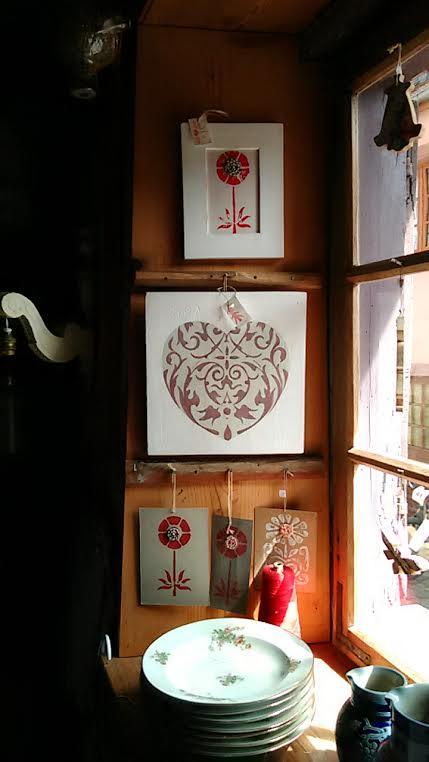 peintures bois et papier