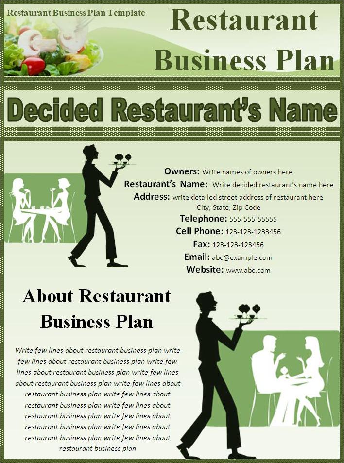 Restaurant modèle de plan d'affaires,