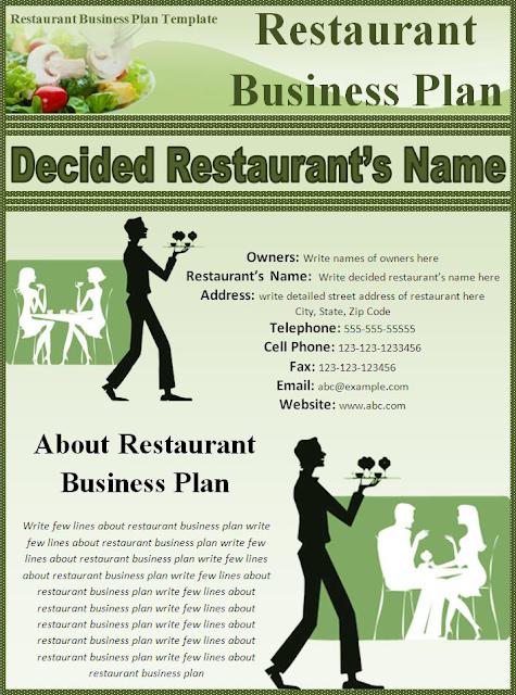 Modèles Microsoft Office: Restaurant modèle de plan d'affaires