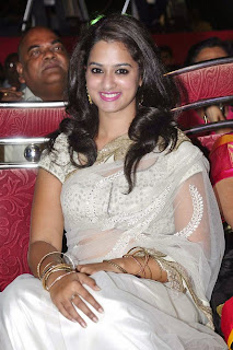 Actress Nanditha Raj Picture Gallery in Saree at Krishnamma Kalipindi Iddarini Movie Audio Launch 7