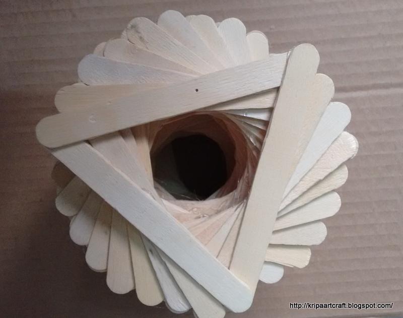 Art And Craft Popsicle Stick Vase